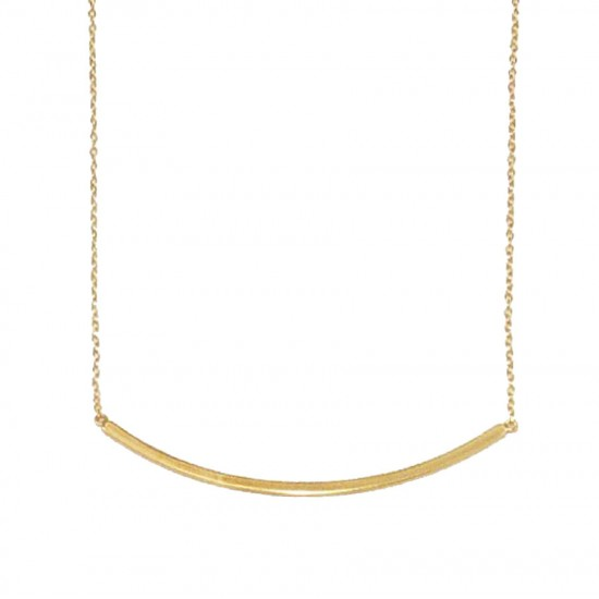 Silver necklace rose goldplated Lace length 40-45cm