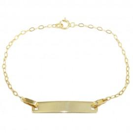 Children's bracelet gold K9 for baptism  110825