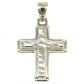 Cross made of polished and forged silver  18665