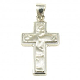 Cross made of polished and forged silver  43015