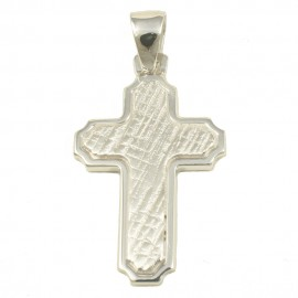 Cross made of polished and forged silver  39014