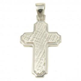 Σταυρός  από ασήμι λουστραριστός και σφυρίλατος 39014