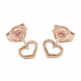 Children's earrings rose gold K9 with hearts design  0672H