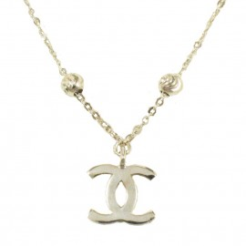 Necklace white gold K14 with chanel design  160152