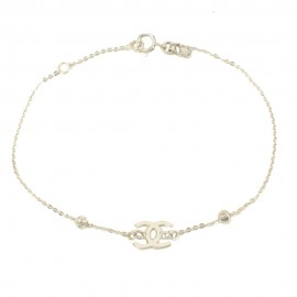 White gold K14 bracelet with chanel design  10510