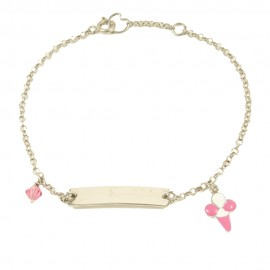 Children's bracelet made of silver with ice cream with enamel 25290