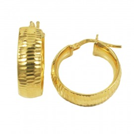 Sterling silver earrings rings gold-plated hand crafted and polished 25295