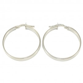 Sterling silver earrings rings polished and platinum 27195W