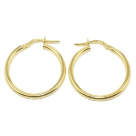 Sterling silver earrings rings gold plated and polished  22485