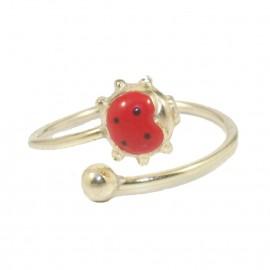 Παιδικό δαχτυλίδι από ασήμι επιχρυσωμένο με παράσταση πασχαλιά  0100L