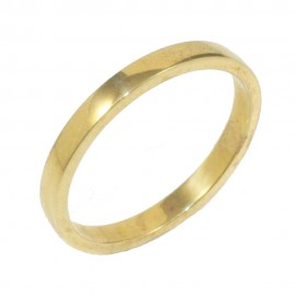 Βέρα χρυσή Κ14 λουστραριστή μονόχρωμη 220220