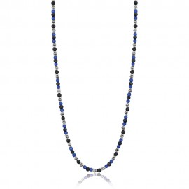 Necklace for men from stainless steel with stones  CL252