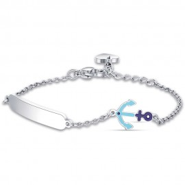 Children's made of stainless steel with anchor with enamel for baptism  JB121
