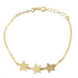 Παιδικό βραχιόλι σε χρυσό Κ9 με σχέδιο αστέρια