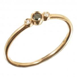 Δαχτυλίδι σε ροζ χρυσό Κ14 με φυσικά διαμάντια 19114R