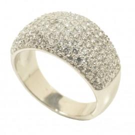 Δαχτυλίδι από ασήμι με λευκά ζιργκόν 3662