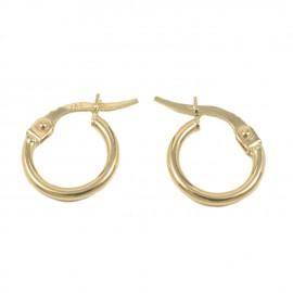 Σκουλαρίκια σε χρυσό Κ14 κρίκοι  06245