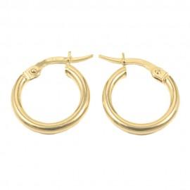 Earrings in gold K14 rings 0876
