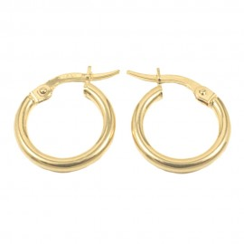 Σκουλαρίκια σε χρυσό Κ14 κρίκοι  0876